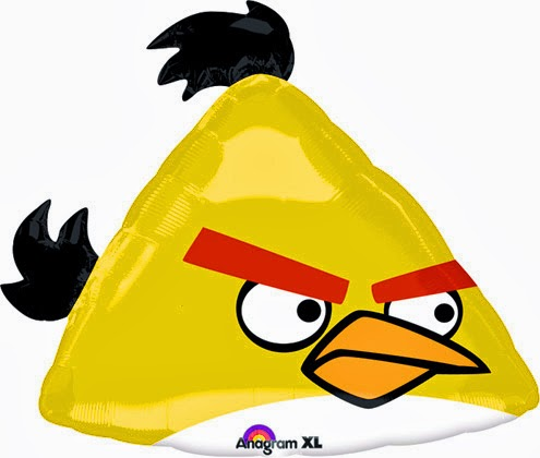 Фольгированный шарик Angry birds