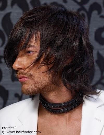 Cortes cabello largo lacio hombres