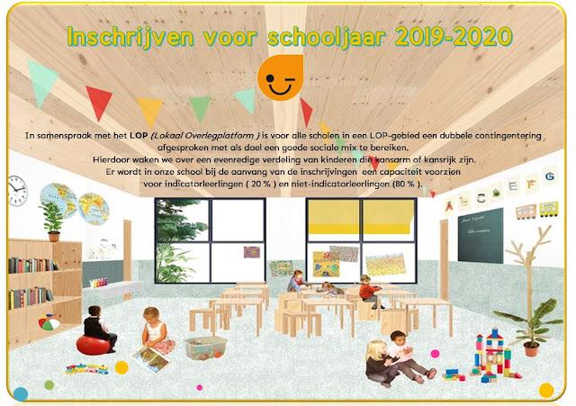 Inschrijven voor schooljaar 2019-2020