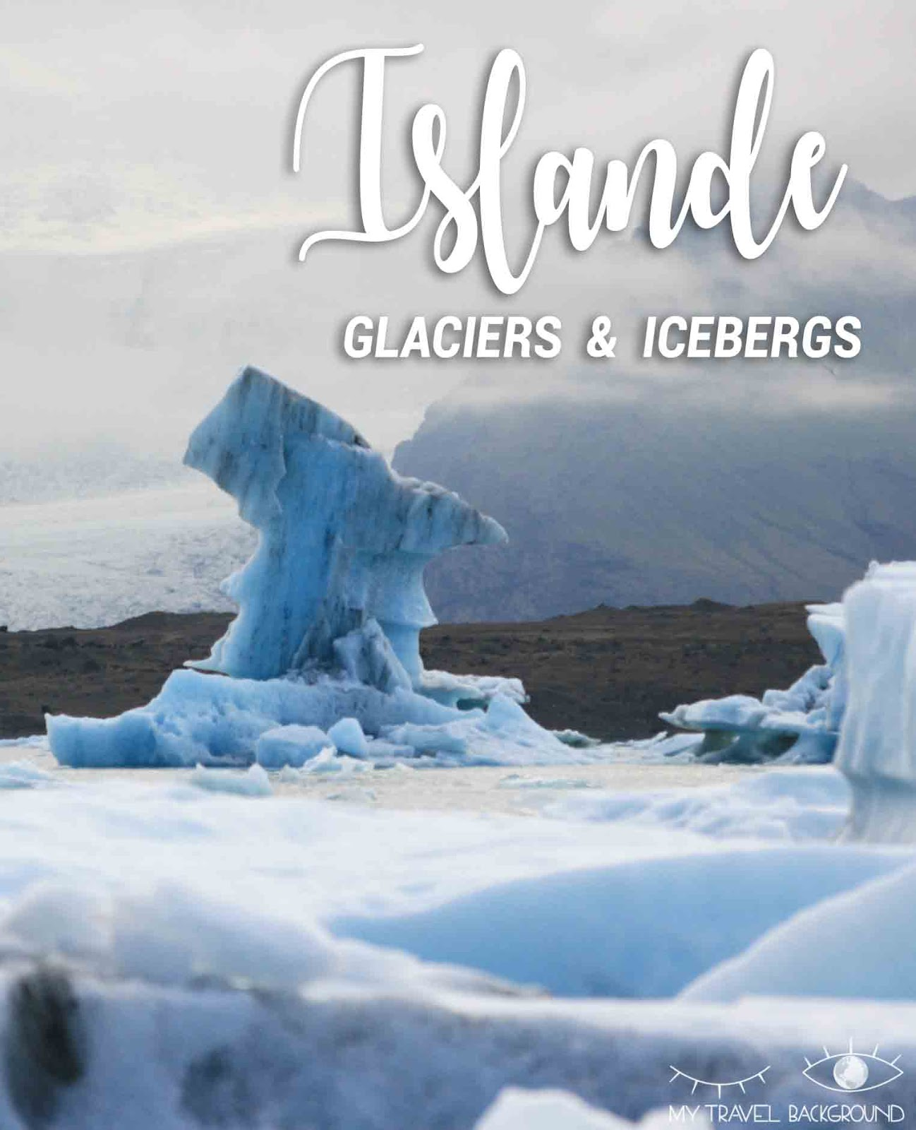My Travel Background : Glaciers et icebergs dans le Sud de l'Islande