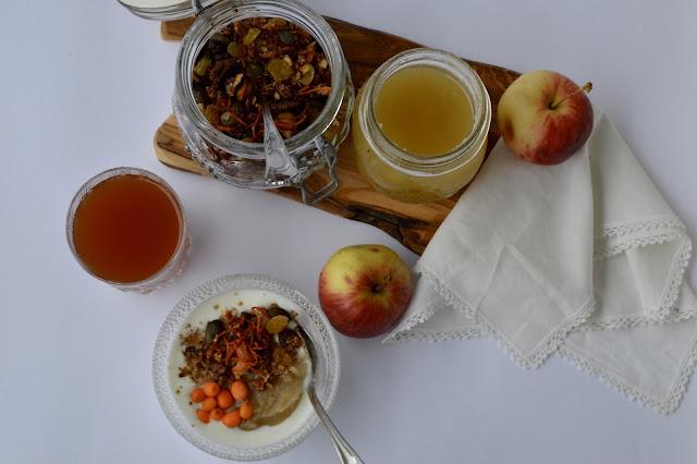 porkkanagranola, aamiainen, välipala, iltapala