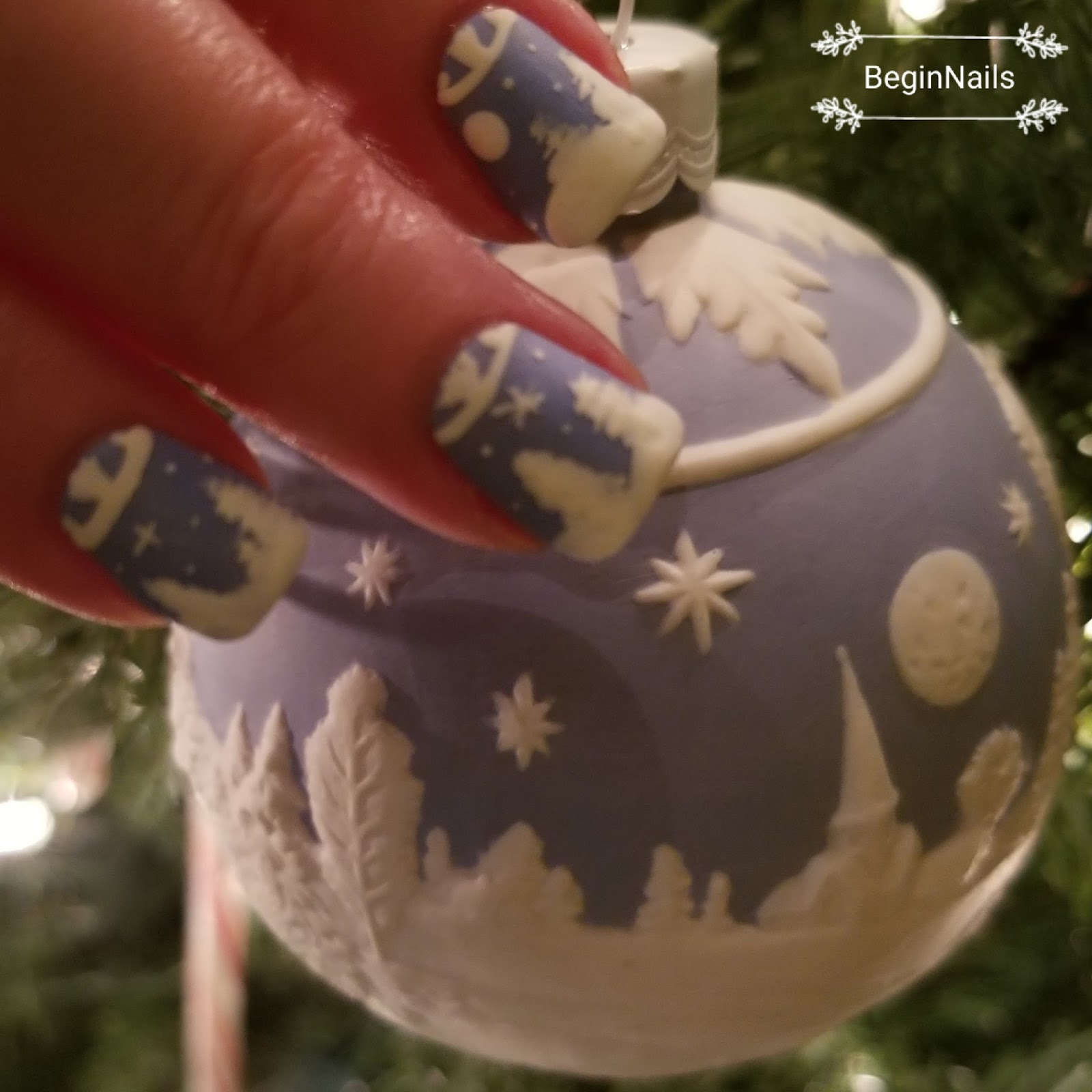 Let\'s Begin Nails: Digit-al Dozen: A Snow Scene Is In My Home