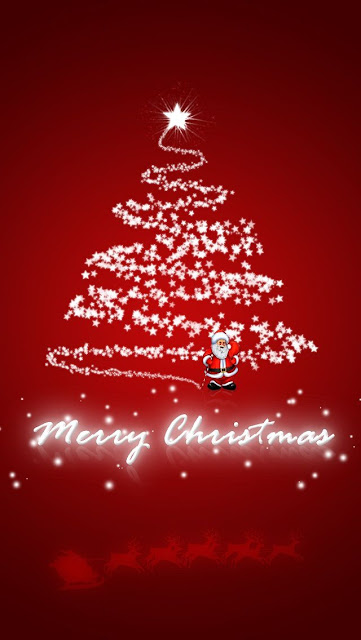 merry christmas wallpaper image for mobile phone