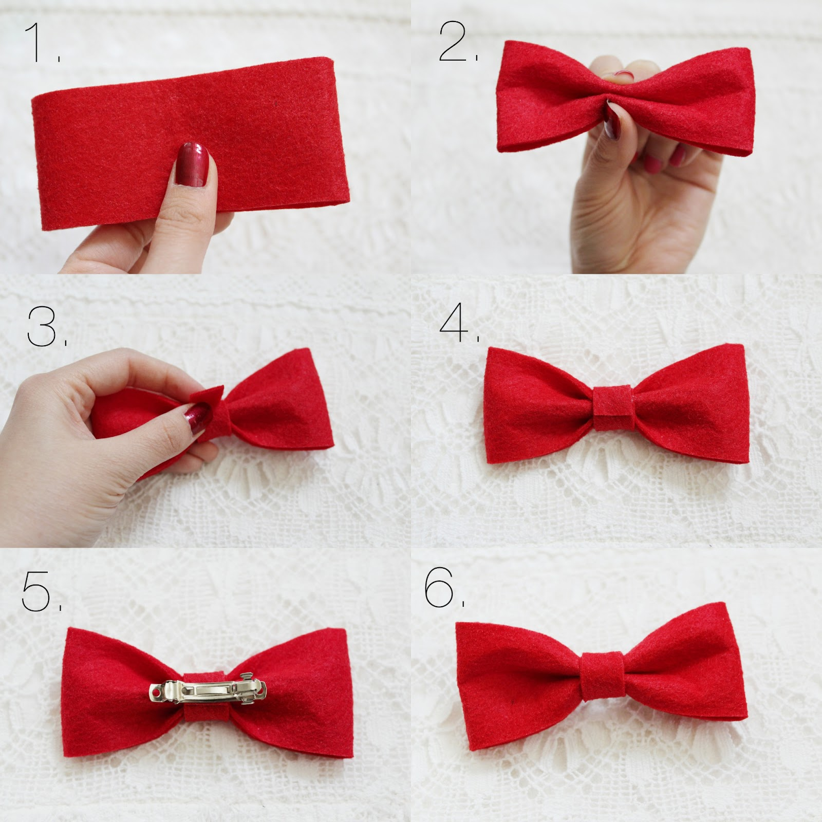 Little Red Bowtalk: DIY Felt Hair Bow