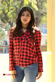Actress Hebah Patel Stills in Blue Denim Jeans at Nanna Nenu Naa Boyfriends Movie Success Meet  0044.JPG