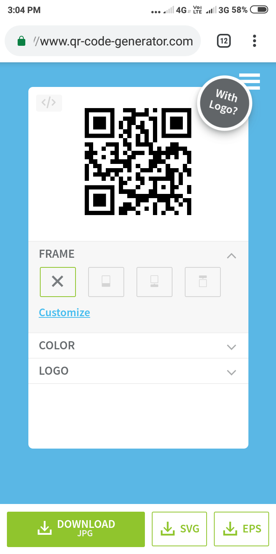 Create QR code,  how to make qr code, online generate qr code.