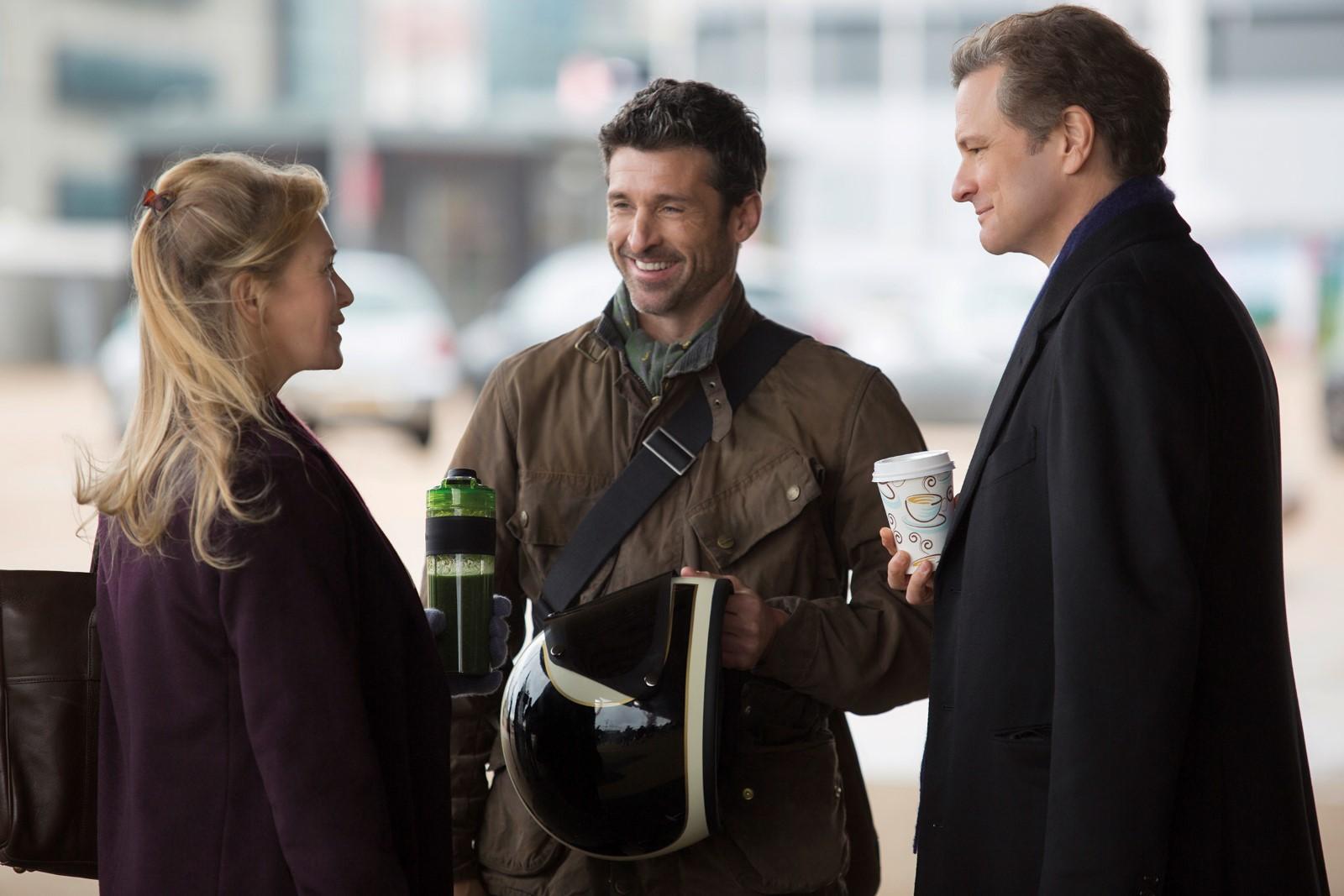 "Réene Zellweger, Colin Firth y Patrick Dempsey en ""Bridget Jones´Baby"""