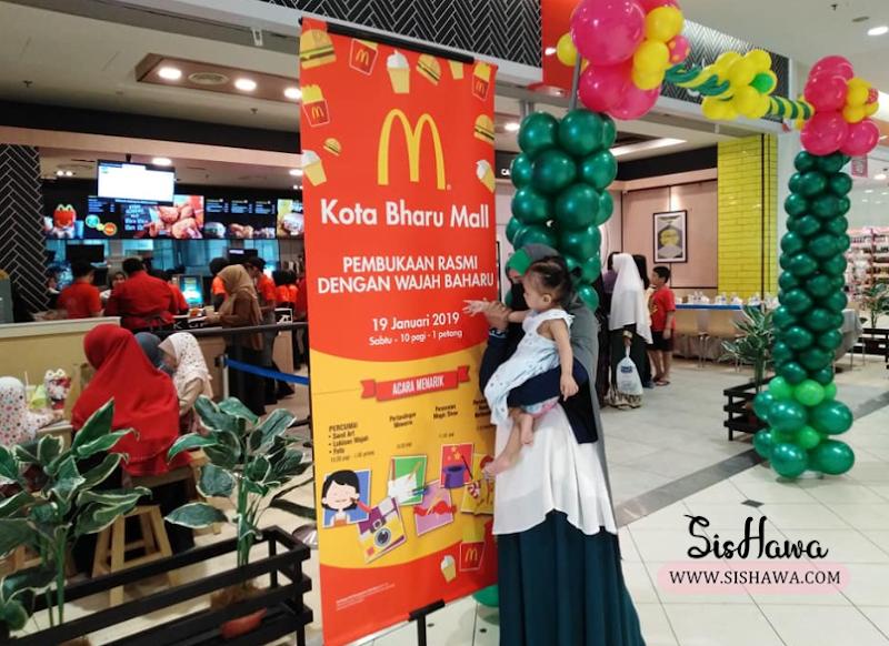 McDonald's Kota Bharu Mall Muncul Dengan Wajah Baharu