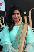 Samantha Ruth Prabhu Smiling Beauty in strange Designer Saree at IIFA Utsavam Awards 2017  Day 2  Exclusive 13.JPG