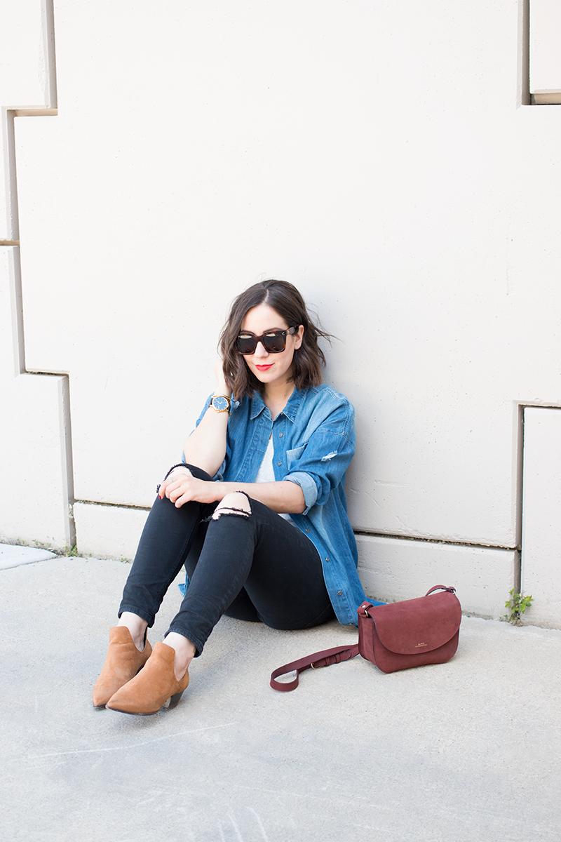 Styling oversized denim shirts