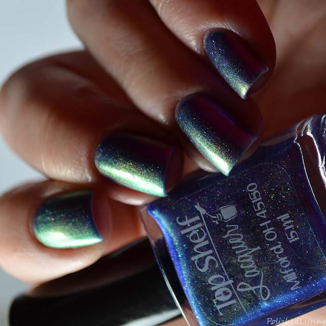 purple color shifting nail polish