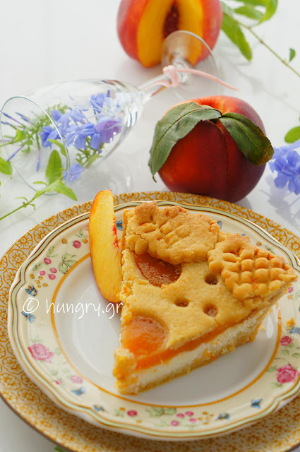 Crostata Without Butter with Ricotta & Peach Jam