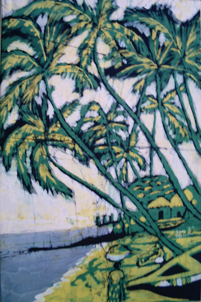 Ghanaian Art Ahudee Pictorial Batik Paintings Samuel