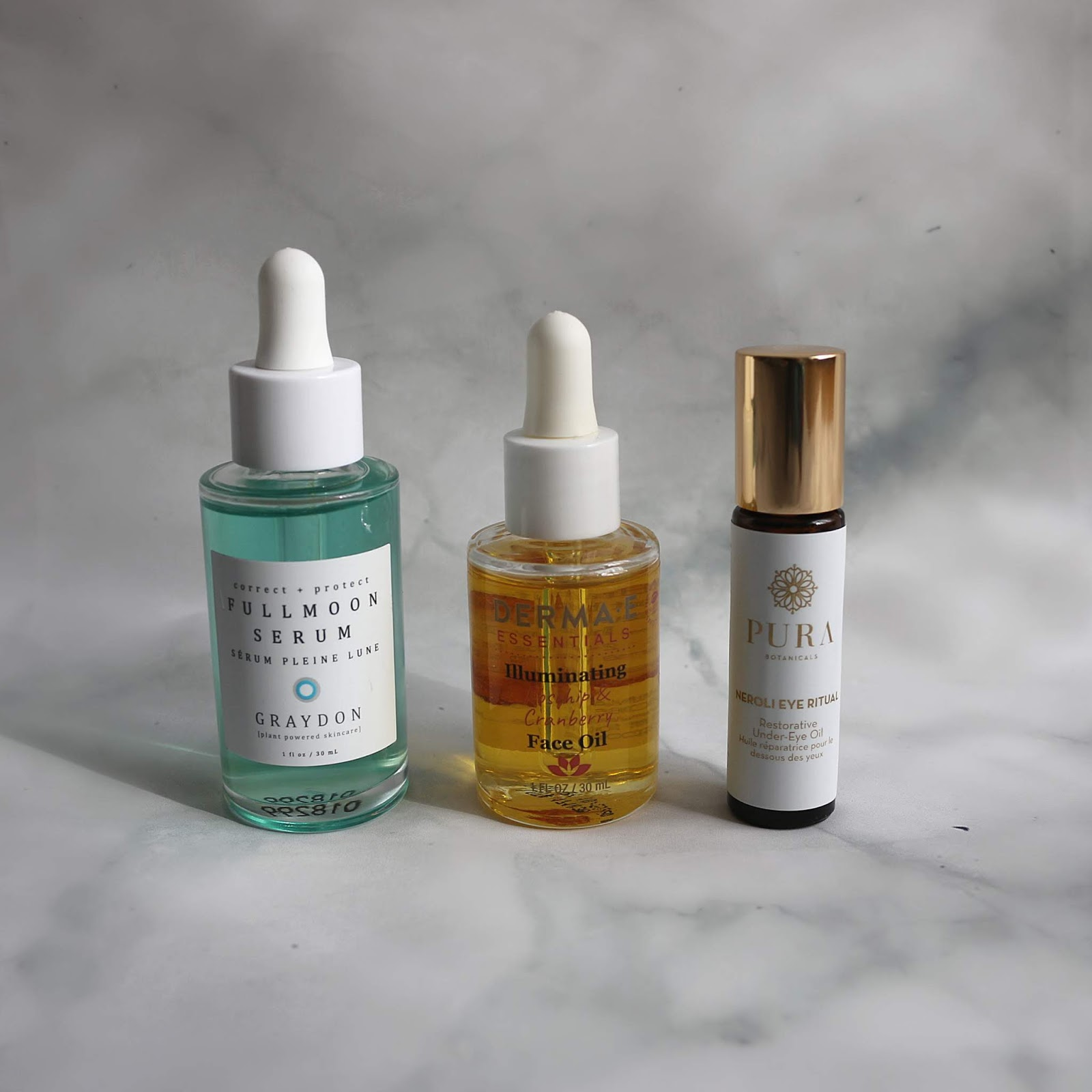 Graydon Fullmoon Serum Derma E Illuminating Rosehip Cranberry Face Oil Pura Botanicals Neroli Eye Ritual