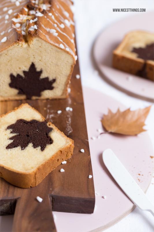 Motiv Kuchen Rezept Motivkuchen backen Herbst mit eingebackenem Motiv (Herz, Stern, Blatt...)
