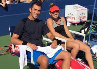 Simona Halep And Horia Tecau At The US Open