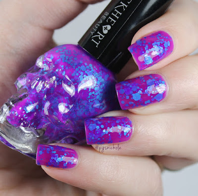 Blackheart Beauty Violet with Blue Glitter by Bedlam Beauty