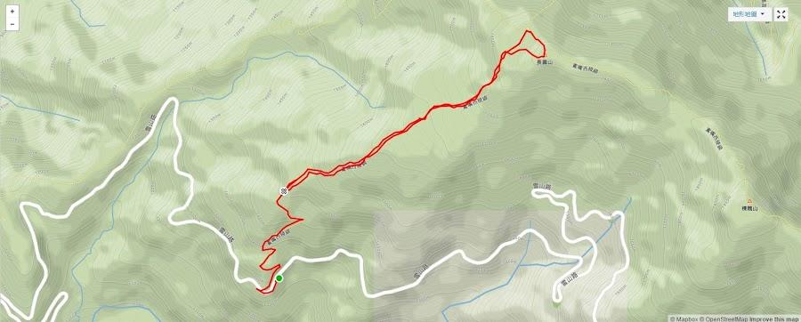 鳶嘴山西稜線 雪山路19.8K 1860峰