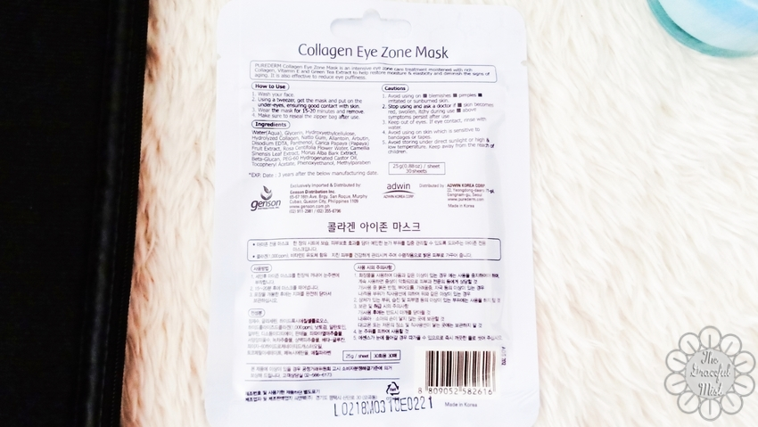 Purederm Collagen Eye Zone Mask - Beauty and Skin Care Review - by Filipino Filipina Blogger - Top Lifestyle Blog Manila Philippines (www.TheGracefulMist.com)