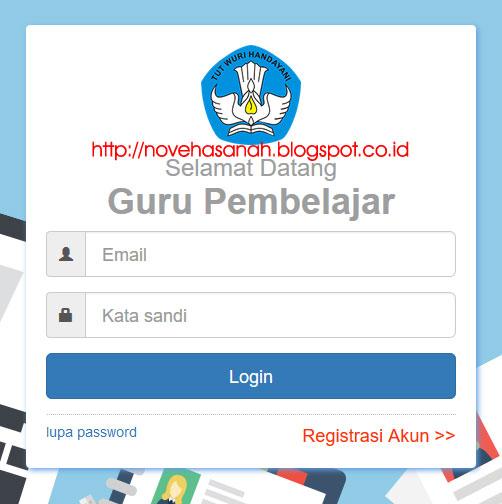 formulir registrasi Guru Pembelajar Online Kemdikbud harus diisi untuk melakukan registrasi atau mendaftarkan akun di portal Guru Pembelajar moda daring