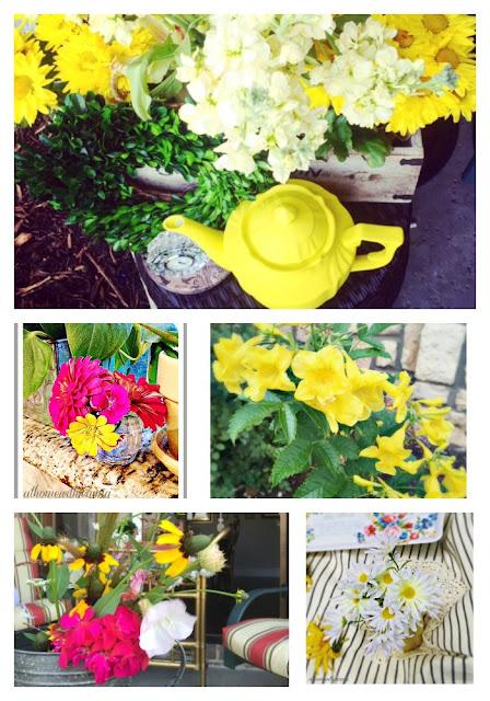 wild flowers, daisy, geranium, vignette, garden party