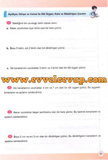 4. Sınıf Yakın Çağ Yayınları Matematik Çalışma Kitabı 53. Sayfa Cevapları