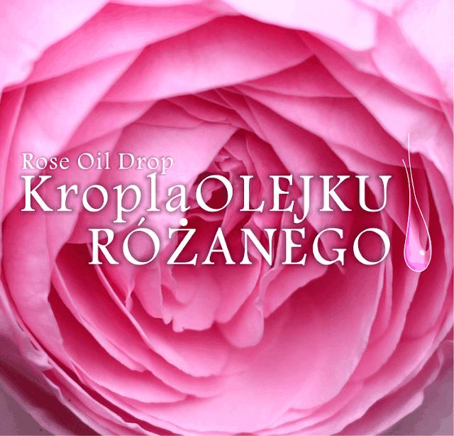 Kropla olejku różanego