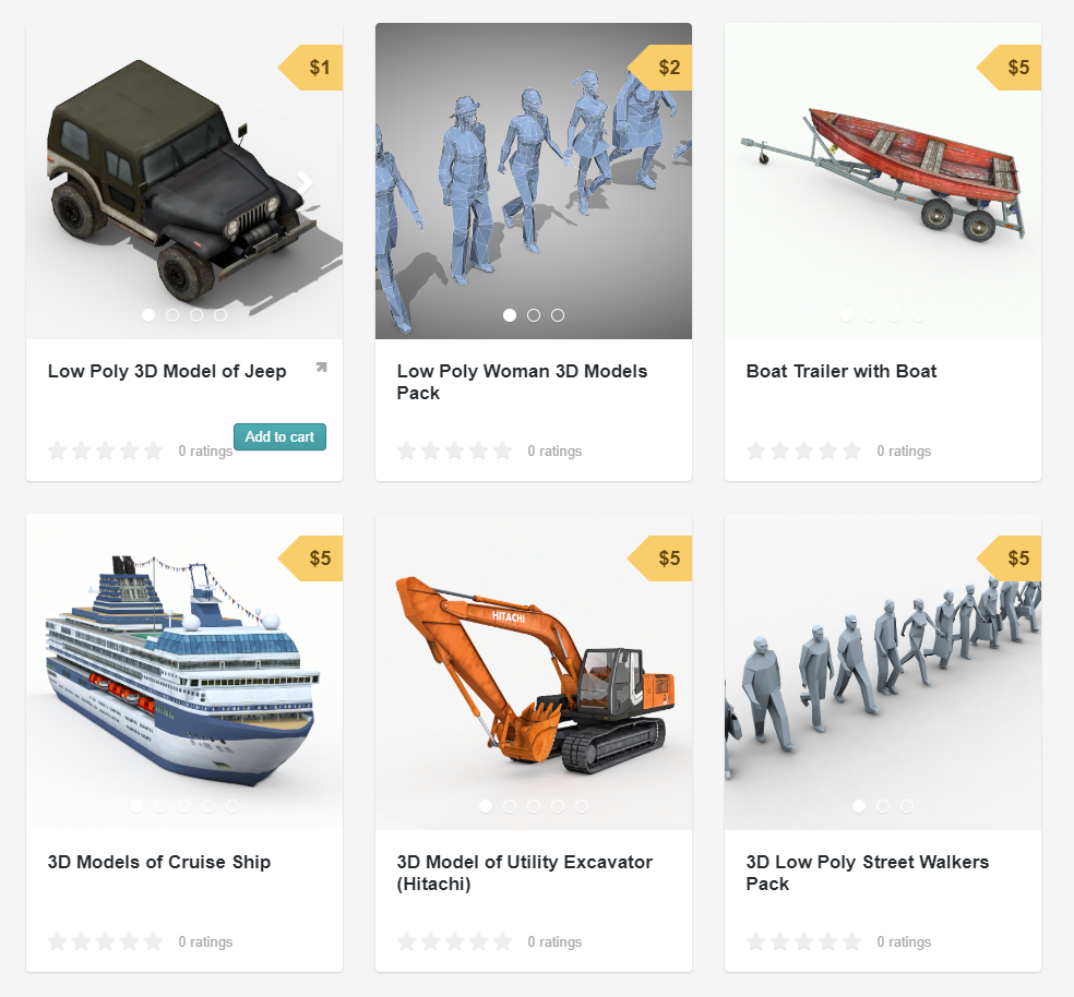3D and 2D Graphic: Sell-out! Cheap 3D models on GumRoad
