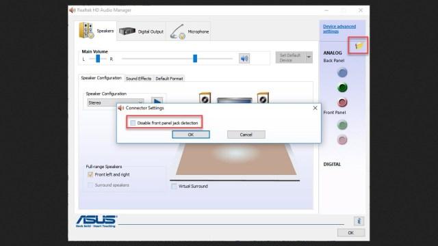 REALTEK AUDIO MANAGER - Realtek HD audio manager, change a