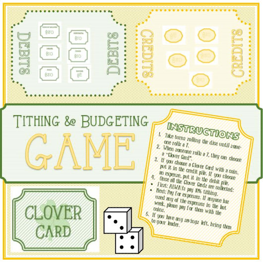 St Patricks Day Tithing and Budget Game - Developing Talents.