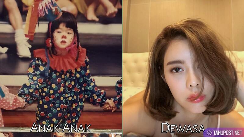 Foto masa kecil artis cantik Thailand - Preechaya Pongthananikorn