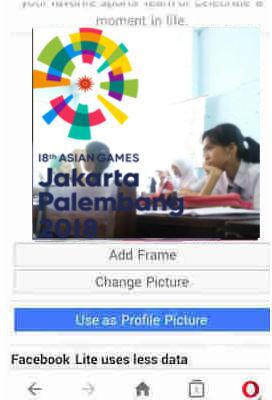 bingkai foto asian games untuk foto profil