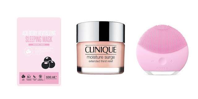 Acai Berry Sleeping Mask, Clinique Moisture Surge Moisturizer, Foreo Luna Mini, Beauty Blogger, Lifestyle Blogger, College Blogger