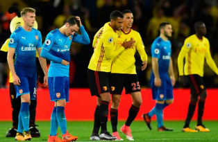 Arsenal Terjungkal di Markas Watford dalam Lanjutan Liga Inggris