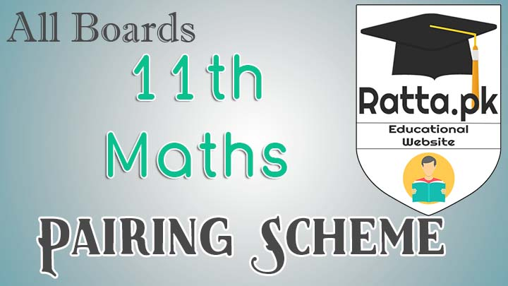 Inter 11th class Maths pairing Scheme 2017 - FSc/ICS 1st year