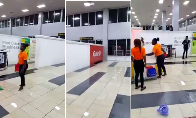 2tAxskL VIDEO:Flood Takes Over Inside Lagos International Airport