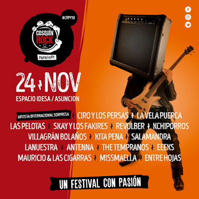 El 24 de Noviembre llega el Cosquin Rock Paraguay.