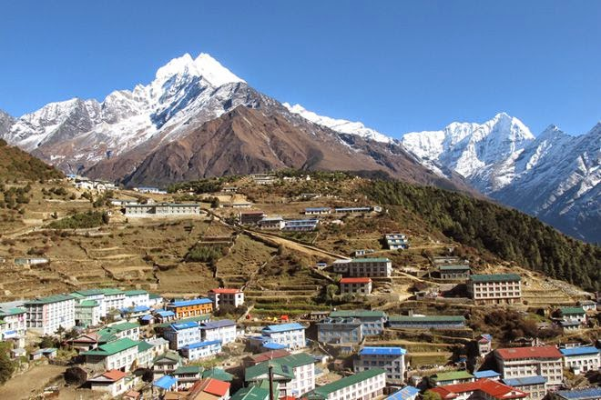 namche village at ebc trek everest