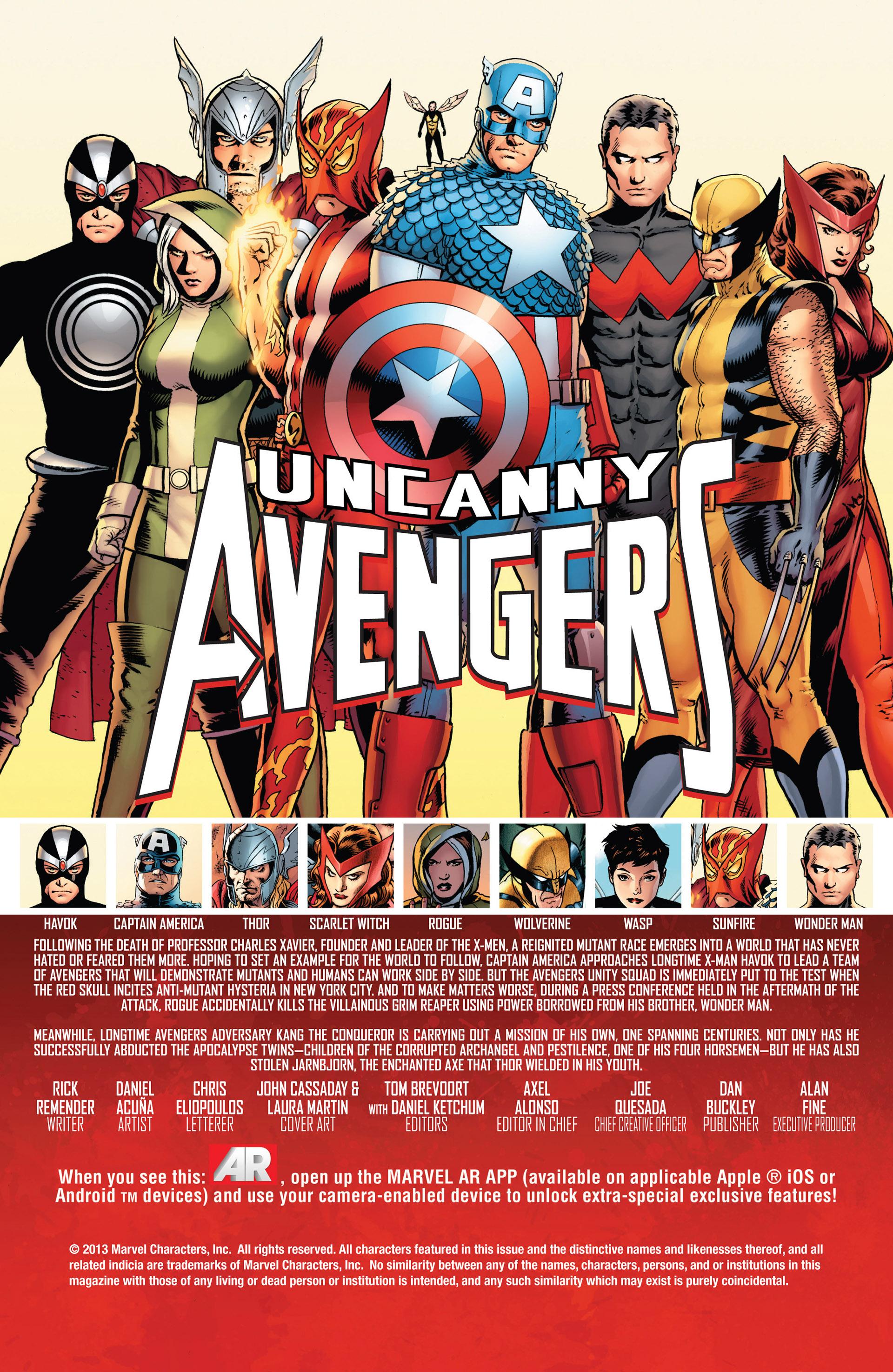 Read online Uncanny Avengers (2012) comic -  Issue #7 - 2