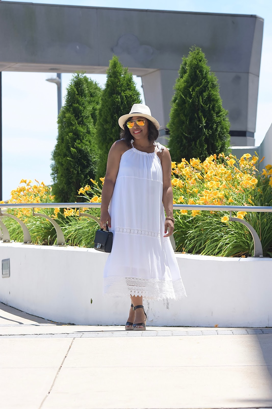 The Versatile Dress You Can Wear All Summer Long, old navy, summer dress, beach dress, pool party dress, white dress, summer outfits