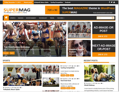 DOWNLOAD Template Wordpress SuperMag Megazine Rerponsive FREE