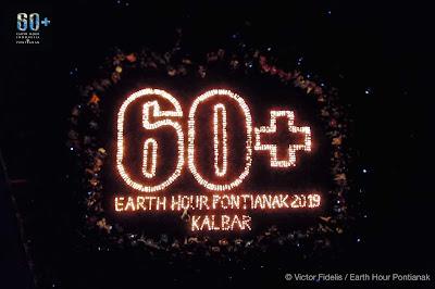 Gerakan Earth Hour 2019 Pontianak Kalimantan Barat