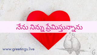 Telugu script nenu ninnu Premisthunanu  నేను నిన్ను ప్రేమిస్తున్నాను = I Love You in English