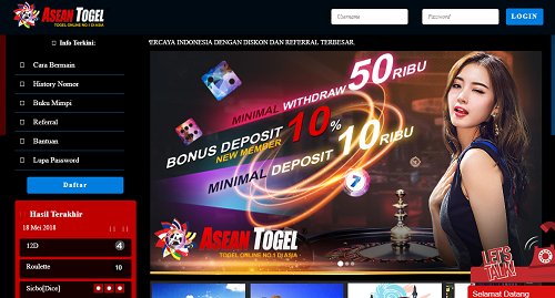 ASEANTOGEL Bandar Online Terpercaya Dan Terbaik