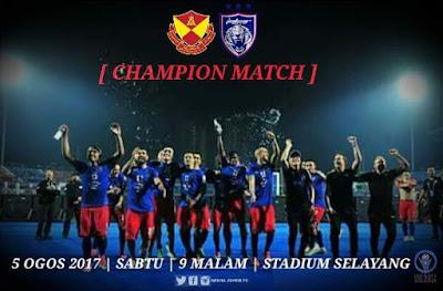 Live Streaming Selangor vs JDT FC Liga Super 5 Ogos 2017