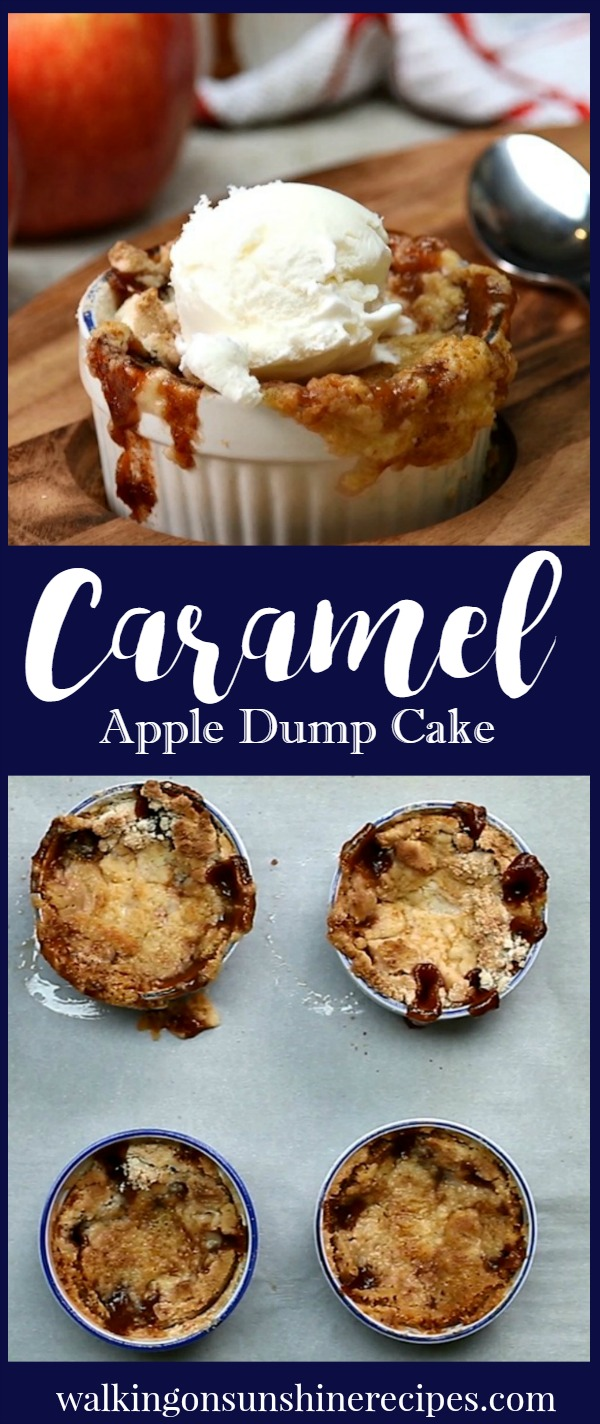 Easy Caramel Apple Dump Cake Recipe with Video | Walking on Sunshine Recipes