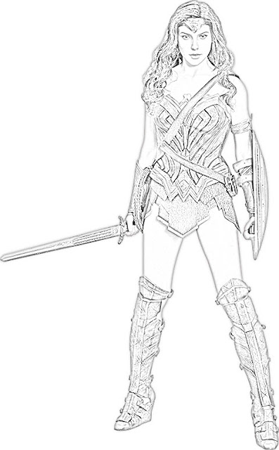 Coloring Pages Wonder Woman Coloring