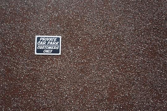 contemporary, urban, photography, street, car park, 70s, sign, urban photography,