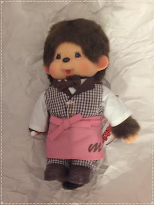 le Monchhichi Coffee Boy - réf 292800 serveur kiki sekiguchi jouet vintage