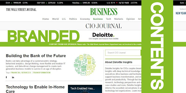 Image Attribute: WSJ CIO Journal - Insights and Analysis from Deloitte  / Website Screenshot